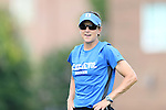 01 September 2013: Duke assistant coach Carla Overbeck. The Duke University Blue Devils played the University of New Mexico Lobos at Fetzer Field in Chapel Hill, NC in a 2013 NCAA Division I Women's Soccer match. Duke won the game 1-0.