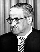 """Associate Justice of the United States Supreme Court Thurgood Marshall photographed at the Supreme Court in Washington, D.C. on Monday, April 24, 1972..Credit: Benjamin E. """"Gene"""" Forte / CNP"""