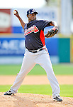 6 March 2011: Atlanta Braves' pitcher Jairo Asencio on the mound during a Spring Training game against the Washington Nationals at Space Coast Stadium in Viera, Florida. The Braves shut out the Nationals 5-0 in Grapefruit League action. Mandatory Credit: Ed Wolfstein Photo