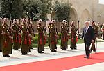 Palestinian President Mahmoud Abbas (Abu Mazen) meets with King Abdullah II, in the Jordan capital of Amman, on March 31, 2013. Photo by Thaer Ganaim