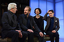 London, UK. 24.02.2015. MAN AND SUPERMAN, directed by Simon Godwin, opens in the Lyttelton, at the National Theatre. Picture shows: Nicholas le Prevost (Roebuck Ramsden), Ralph Fiennes (Jack Tanner), Indira Varma (Ann Whitefield), Ferdinand Kingsley (Octavius Robinson). Photograph © Jane Hobson.