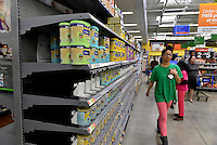 MIRAMAR, FL - OCTOBER 06: Customer shopping inside Walmart in Miramar, Florida in preparation for the landfall of Hurricane Matthew on October 6, 2016 in Miramar, Florida. The hurricane is expected to make landfall sometime this evening or early in the morning as a possible category 4 storm.Credit: MPI10 / MediaPunch