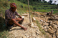 Stone workers in Gorkha city..-The full text reportage is available on request in Word format