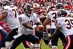 Chicago Bears quarterback Kordell Stewart (10) hands off to running back Anthony Thomas (35) on Sunday, September 7, 2003, in San Francisco, California. The 49ers defeated the Bears 47-7.
