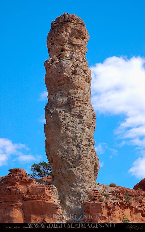 Sedimentary Pipe in Grand Parade, Kodachrome Basin State Park, Grand Staircase Escalante, Utah