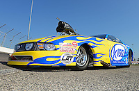 Sept. 29, 2012; Madison, IL, USA: The car of NHRA pro mod driver Mike Janis during qualifying for the Midwest Nationals at Gateway Motorsports Park. Mandatory Credit: Mark J. Rebilas-