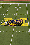 University of Michigan football team photo and senior photo at Michigan Stadium in Ann Arbor, Mich., on August 19, 2012.
