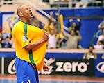 Fussball  International  FIFA  FUTSAL WM 2008   19.10.2008 Finale Brasil - Spain Brasilien - Spanien ARI (BRA) jubelt nach einem Tor der Brasilianer.