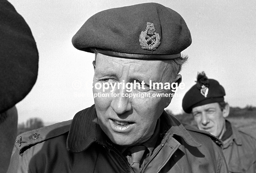 Lieutenant-General Vernon Forbes Erskine-Crum, GOC, general officer commanding, N Ireland, British Army, UK, 197102000097e..Copyright Image from Victor Patterson, 54 Dorchester Park, Belfast, UK, BT9 6RJ..Tel: +44 28 9066 1296.Mob: +44 7802 353836.Voicemail +44 20 8816 7153.Skype: victorpattersonbelfast.Email: victorpatterson@me.com.Email: victorpatterson@ireland.com (back-up)..IMPORTANT: If you wish to use this image or any other of my images please go to www.victorpatterson.com and click on the Terms & Conditions. Then contact me by email or phone with the reference number(s) of the image(s) concerned.