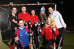 Drink Awareness Wales.Carmarthen Hockey Club.Carys Thomas, Ffion Evans, Kate Williams, Gwenno Davies, Fiona Kerray, Eleanor Phillips & Ruby Breeze..04.12.12..©Steve Pope