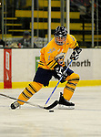 29 December 2007: Quinnipiac University Bobcats' defenseman Brett Dickinson, a Freshman from Furlong, PA, in action against the Western Michigan University Broncos at Gutterson Fieldhouse in Burlington, Vermont. The Bobcats defeated the Broncos 2-1 in the first game of the Sheraton/TD Banknorth Catamount Cup Tournament...Mandatory Photo Credit: Ed Wolfstein Photo
