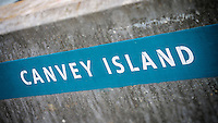 Canvey Island Sign, Essex, Britain - Jun 2014.