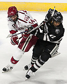 Alexander Kerfoot (Harvard - 14), Erik Foley (PC - 12) - The Harvard University Crimson defeated the Providence College Friars 3-0 in their NCAA East regional semi-final on Friday, March 24, 2017, at Dunkin' Donuts Center in Providence, Rhode Island.