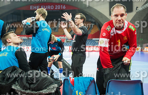 Mattias Andersson during practice session of Team Sweden on Day 1 of Men's EHF EURO 2016, on January 15, 2016 in Centennial Hall, Wroclaw, Poland. Photo by Vid Ponikvar / Sportida
