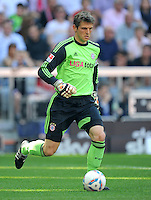 FUSSBALL   1. BUNDESLIGA  SAISON 2011/2012   33. Spieltag FC Bayern Muenchen - VfB Stuttgart       28.04.2012 Torwart Hans Joerg Butt (FC Bayern Muenchen) am Ball