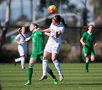Carson, CA - January 25, 2016: The USWNT U-23 defeated Ireland 3-0 at StubHub Center.