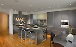 Kitchen Modern loft condo apartment in Washington DC modern Porcelanosa Kitchen