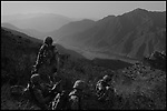 The soldiers of Co. C 2BN 12th INF patrol the roads and slopes of the Pesh River Valley in Afghanistan's Kunar Province during Oct. 2009.