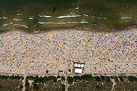A crowded beach at Wladyslawowo on the Baltic Sea.