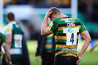 James Craig of Northampton Saints stands dejected after the match. Aviva Premiership match, between Northampton Saints and Leicester Tigers on April 16, 2016 at Franklin's Gardens in Northampton, England. Photo by: Patrick Khachfe / JMP