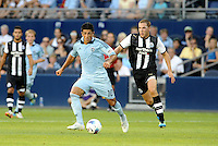 Sporting KC midfielder Jeterson goes past Dan Gosling Newcastle United... Sporting Kansas City and Newcastle United played to a 0-0 tie in an international friendly at LIVESTRONG Sporting Park, Kansas City, Kansas.