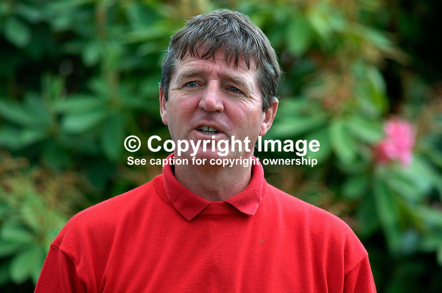 Des Smyth, professional golfer, Rep of Ireland. Picture taken during pro-am before the Smurfit European Golf Championship at the K Club, Co Kildare, Rep of Ireland. Ref: 200207035924...Copyright Image from Victor Patterson, 54 Dorchester Park, Belfast, UK, BT9 6RJ..Tel: +44 28 9066 1296.Mob: +44 7802 353836.Voicemail +44 20 8816 7153.Skype: victorpattersonbelfast.Email: victorpatterson@mac.com.Email: victorpatterson@ireland.com (back-up)..IMPORTANT: If you wish to use this image or any other of my images please go to www.victorpatterson.com and click on the Terms & Conditions. Then contact me by email or phone with the reference number(s) of the image(s) concerned.