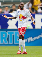 NY RedBulls forward Macoumba Kendji (10) reacts to a call. Chivas USA defeated the Red Bulls of New York 2-0 at Home Depot Center stadium in Carson, California April 10, 2010.  .