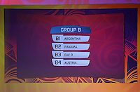 Official Draw for the FIFA U 20 Football World Cup, New Zealand 2015. Sky City, Auckland. Tuesday 10 February 2015. Copyright photo: Andrew Cornaga / www.photosport.co.nz
