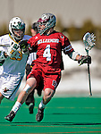 23 March 2008: Bellarmine University Knights' Bobby Snider, a Junior from Calgary, Alberta, in action against the University of Vermont Catamounts at Moulton Winder Field, in Burlington, Vermont. The Catamounts defeated the visiting Knights 9-7 at the Vermont home opener...Mandatory Photo Credit: Ed Wolfstein Photo