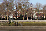 View of the Royal Hospital in Chelsea, seen from Battersea Park on the south side of the River Thames