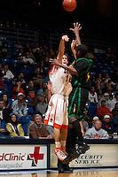 SAN ANTONIO, TX - FEBRUARY 8, 2007: The Southeastern Louisiana University Lions vs. The University of Texas at San Antonio Roadrunners Men's Basketball at the UTSA Convocation Center. (Photo by Jeff Huehn)