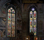 Stained Glass Windows 14th c Cappella Baroncelli Taddeo Gaddi Cappella Giusti School of Giotto Santa Croce Florence