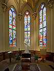 Oct. 4, 2011; St. Andre Bessette statue, Basilica of the Sacred Heart..Photo by Matt Cashore/University of Notre Dame