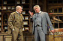 London, UK. 13.06.2016. HOBSON's CHOICE, by Harold Brighouse, opens at the Vaudeville theatre in the West End. Directed by Jonathan Church, with lighting design by Tim Mitchell and set & costume design by Simon Higlett. Picture shows: Christopher Timothy (Jim Heeler), Martin Shaw (Henry Horatio Hobson). Photograph © Jane Hobson.