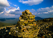 Cumulus clouds from the summit of Bondcliff in the Pemigewasset Wilderness of the White Mountains, New Hampshire USA.