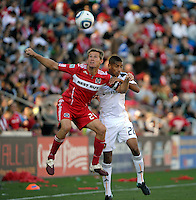 The LA Galaxy tied the Chicago Fire 1-1 at Toyota Park in Bridgeview, IL on September 4, 2010