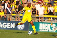 24 OCTOBER 2010:  Columbus Crew forward Emilio Renteria (20) during MLS soccer game against the Philadelphia Union at Crew Stadium in Columbus, Ohio on August 28, 2010.
