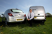 29/04/2009 Location studio lighting example, showing Justin Patterson of Mitie, Bristol, showing off more eco-friendly additions to the vehicle fleet. Photo © Tim Gander 2009. All rights reserved. Contact: 07703 124412 tim@timgander.co.uk