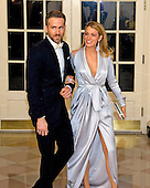 Actor Ryan Reynolds, left, and Actress Blake Lively, right, arrive for the State Dinner in honor of Prime Minister Trudeau and Mrs. Sophie Gr&eacute;goire Trudeau of Canada at the White House in Washington, DC on Thursday, March 10, 2016.<br /> Credit: Ron Sachs / Pool via CNP