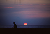 Sunset, Mololi'i, Big Island of Hawaii.