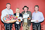 Abbeydorny Ploughing Most Appropriately Dressed were  Delores McElligott, Lixnaw and John maskell McMahon lisselton, Pictured  Tom O'Connell, CooksTown, Delores McElligott, John maskell McMahon, mossie leahy hygiene warehouse