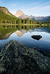 Mt. Wilbur, Swiftcurrent Lake, Glacier National Park, Montana, USA