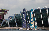 Extreme Sailing Series 2011. Act 9. Singapore.Oman Air.Credit: Lloyd Images.