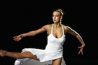 "Natalya Godunko of Ukraine performs in gala at 2008 World Cup Kiev, ""Deriugina Cup"" in Kiev, Ukraine on March 23, 2008."