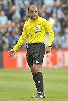 Referee Baldomero Toledo..Sporting Kansas City defeated Chivas USA 4-0 at Sporting Park, Kansas City, Kansas.