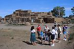 tour group at Taos Pueblo