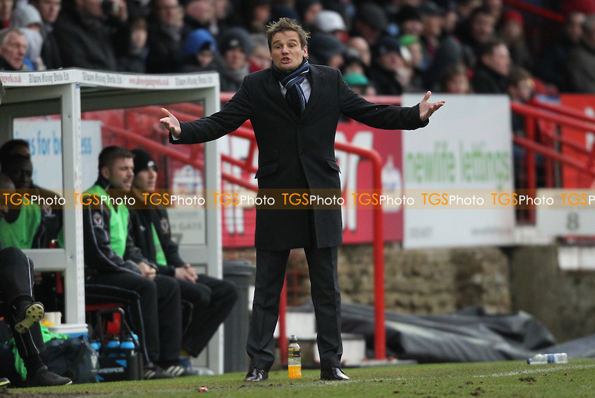 AFC Wimbledon Manager Neal Ardley - Aldershot Town vs AFC Wimbledon - NPower League Two Football at the Recreaton Ground, Aldershot, Hampshire - 16/03/13 - MANDATORY CREDIT: Simon Roe/TGSPHOTO - Self billing applies where appropriate - 0845 094 6026 - contact@tgsphoto.co.uk - NO UNPAID USE