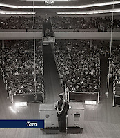 Lynchburg Baptist College conducts its first Commencement ceremony in the main sanctuary of the original Thomas Road Baptist Church on May 22, 1974.