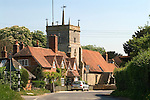 Bucklebury Berkshire UK. Church of St Mary the Virgin. The main street through the village, there are no shops in this typical communter wealthy village. Kate Middleton family village