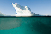 Slabs of sea ice known as brash ice collide and grind together.